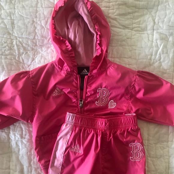 Baby Girl Adidas Pink Red Sox Jacket and Pants